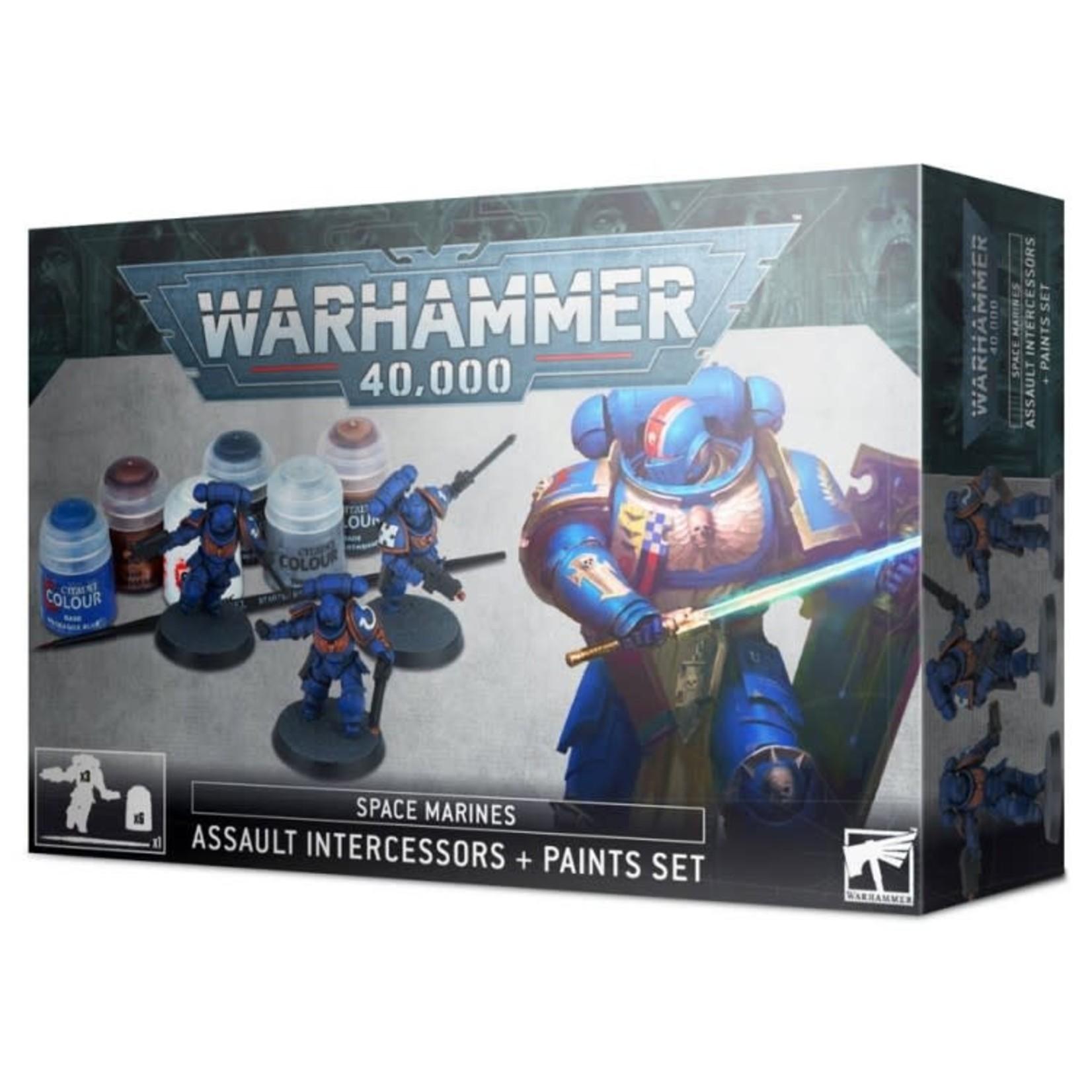 Games Workshop Warhammer 40k: Space Marines - Assault Intercessor and Paint Set