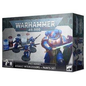 Games Workshop Warhammer 40k: Space Marines: Assault Intercessor and Paint Set