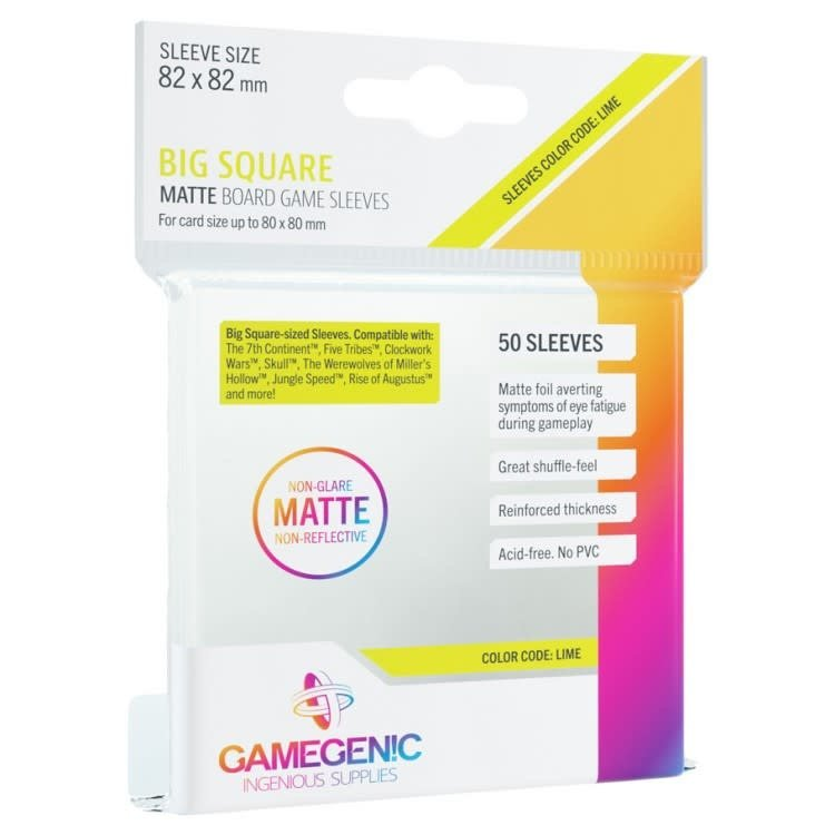 Gamegenic Gamegenic Sleeves: Big Square  - 50 count (82x82mm)