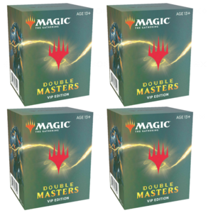 Wizards of the Coast Magic the Gathering - Double Masters: VIP Booster - Sealed Box of 4 Packs