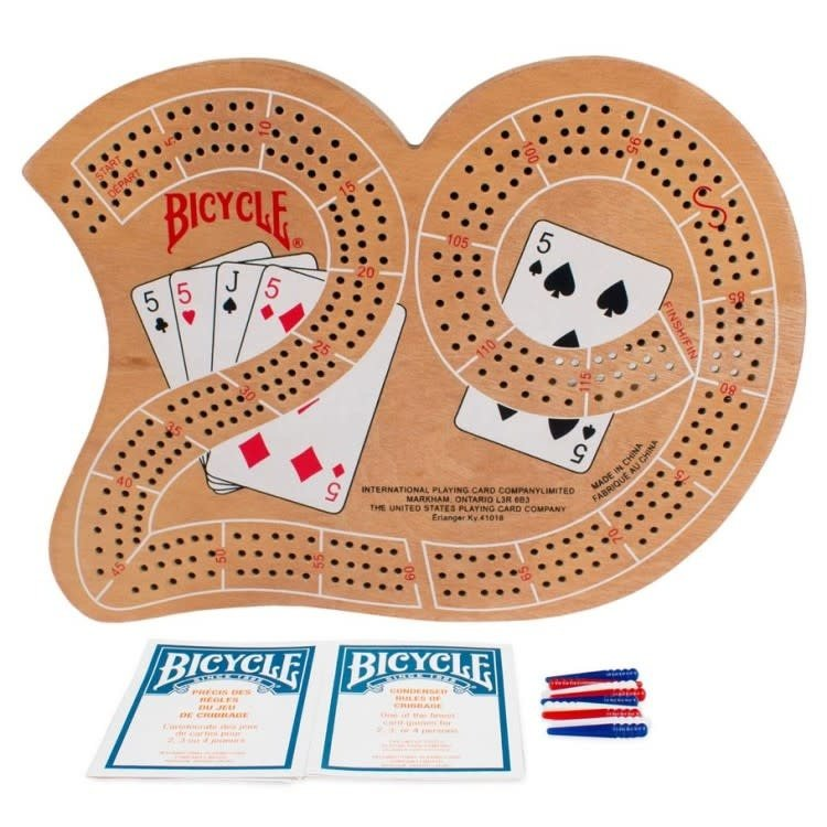 bicycle Cribbage Board: Large 29 - Wood