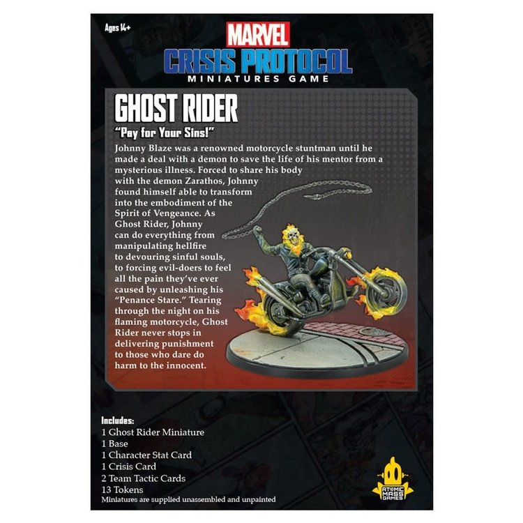 Asmodee Editions Marvel Crisis Protocol: Ghost Rider Character Pack