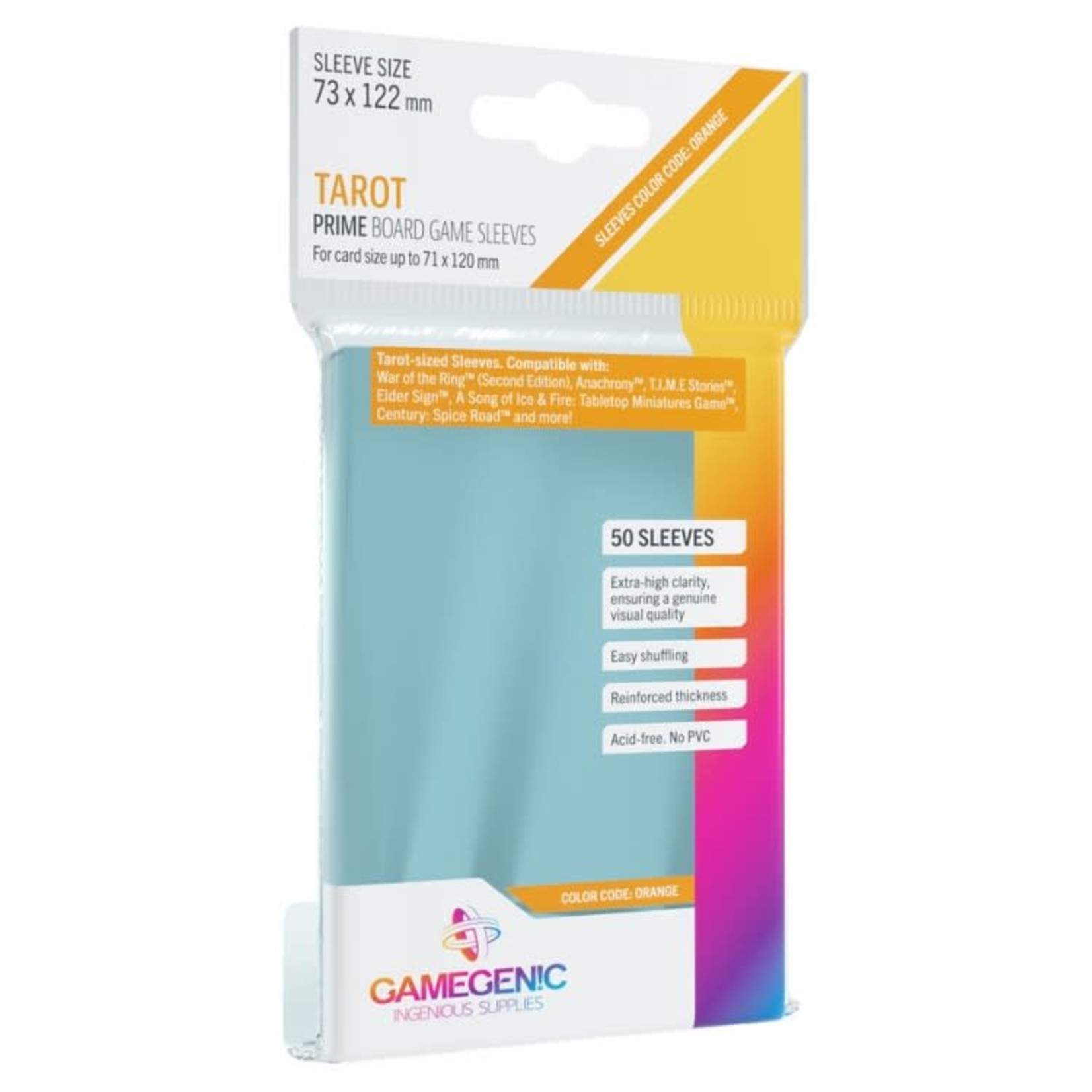 Gamegenic Gamegenic Sleeves: Tarot PRIME - 50 count (73x122mm)