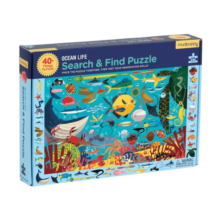 Mudpuppy Mudpuppy: 64 Piece Puzzle - Search and Find: Ocean LIfe