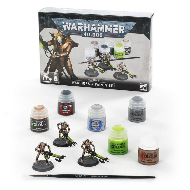 Games Workshop Warhammer 40k: Necrons: Warriors and Paint Set