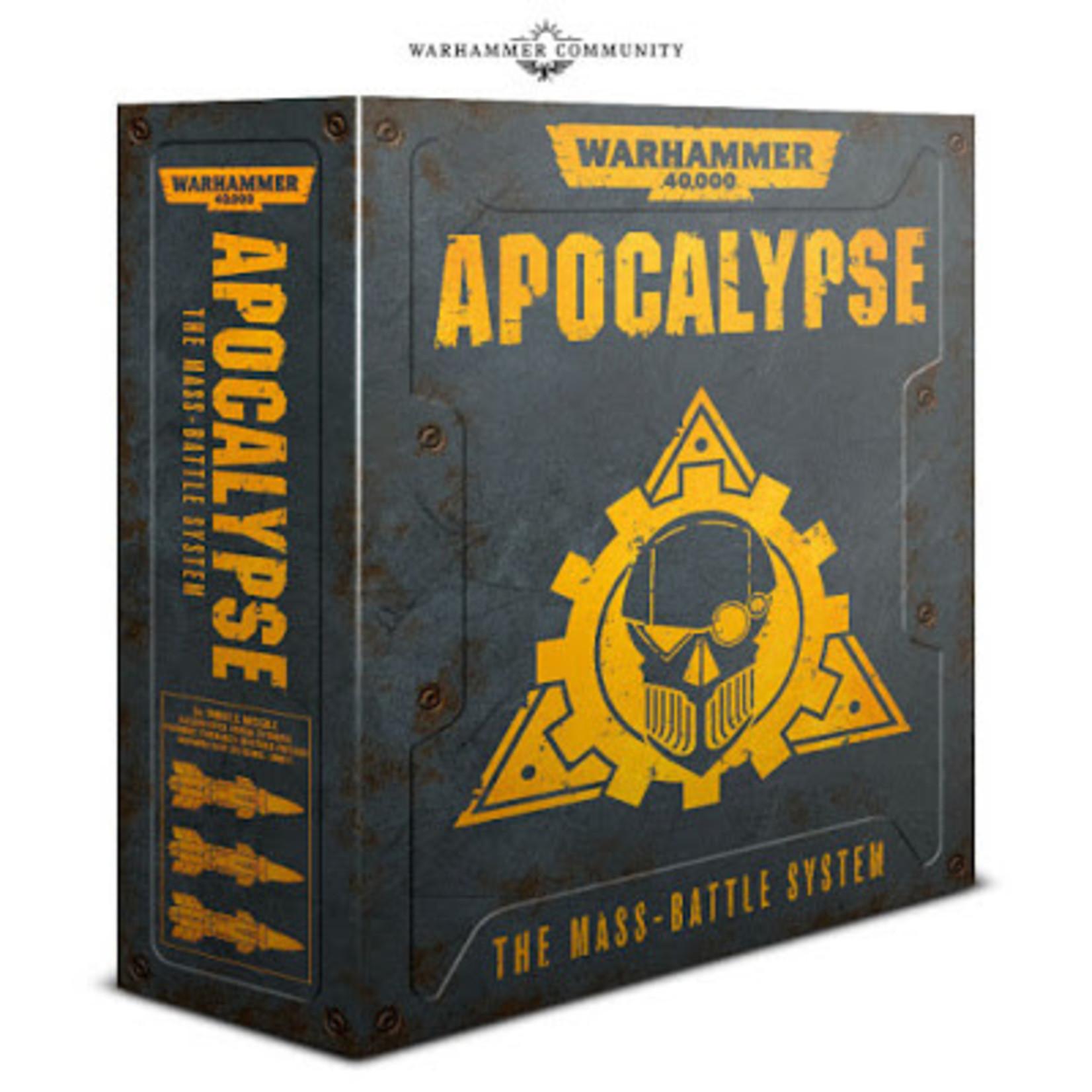 Games Workshop Warhammer 40k Apocalypse: The Mass Battle System