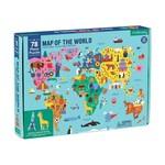 Mudpuppy Mudpuppy - 78 Piece Puzzle: Map of the World