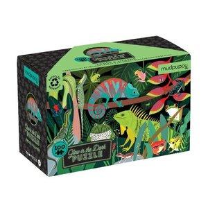 Mudpuppy Mudpuppy - 100 Piece Puzzle: Glow in the Dark - Frogs & Lizards