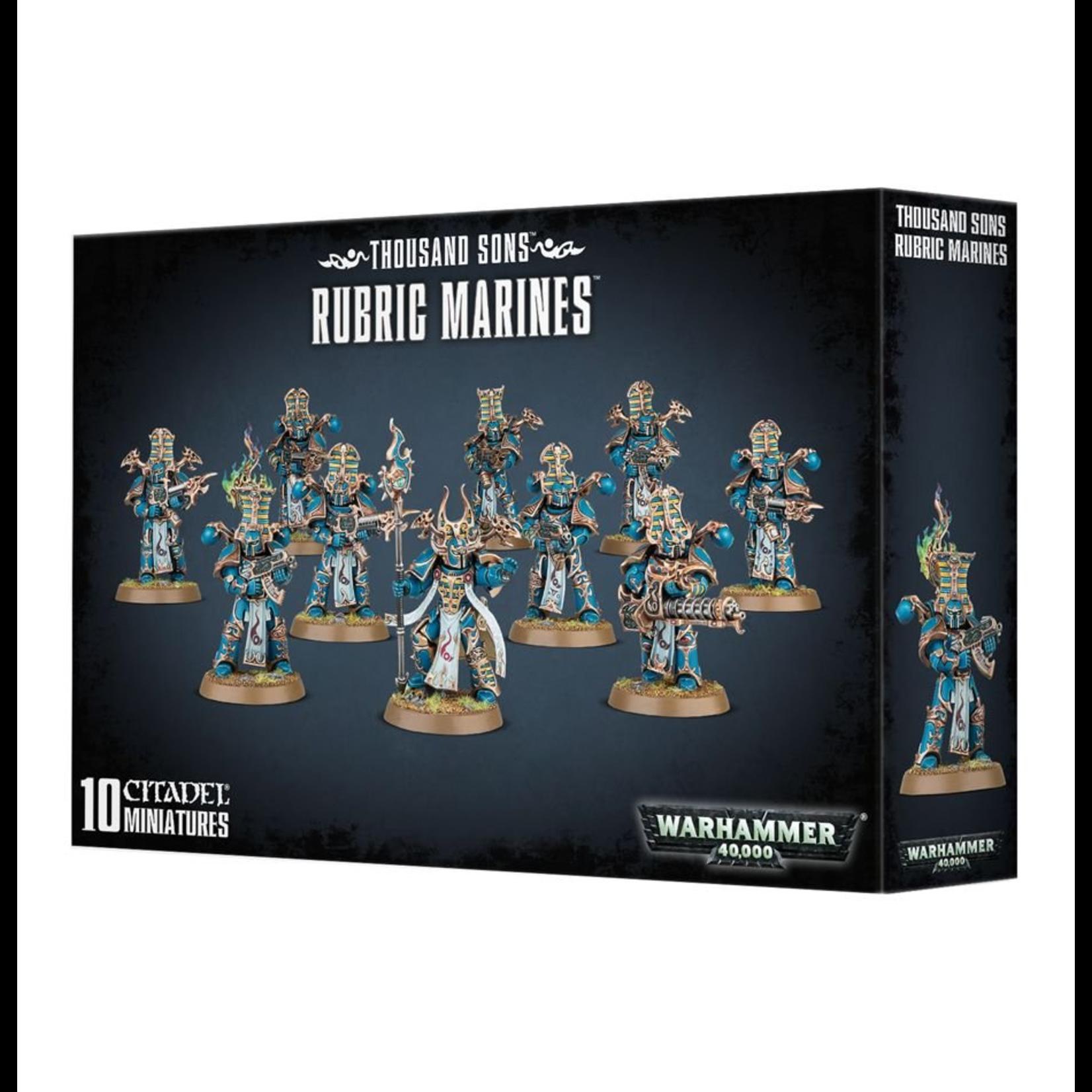 Games Workshop Warhammer 40k: Thousand Sons Rubric Marines