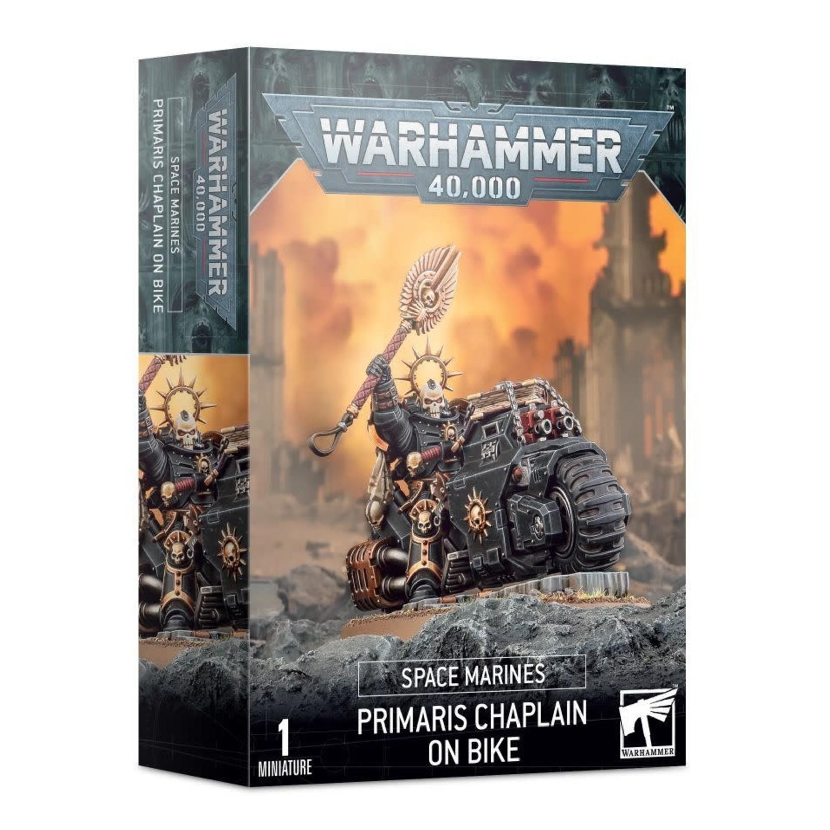 Games Workshop Warhammer 40k: Space Marines - Primaris Chaplain on Bike