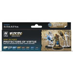 Vallejo Wizkids Paints Set: Protectors of Virtue (8 colors)