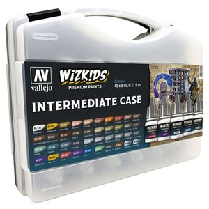 Vallejo Wizkids Paints Case: Intermediate (40 colors)