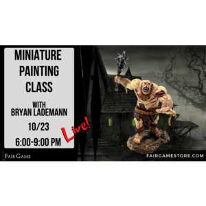 Admission - Virtual Ogre Zombie Learn to Paint (October 23, 2020)