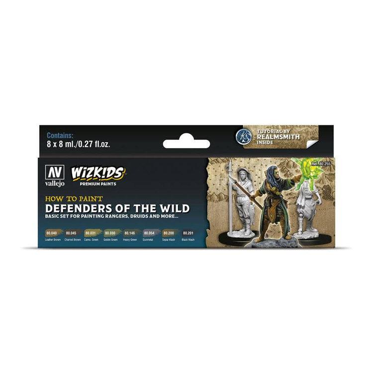 Vallejo Wizkids Paints Set: Defenders of the Wild (8 colors)