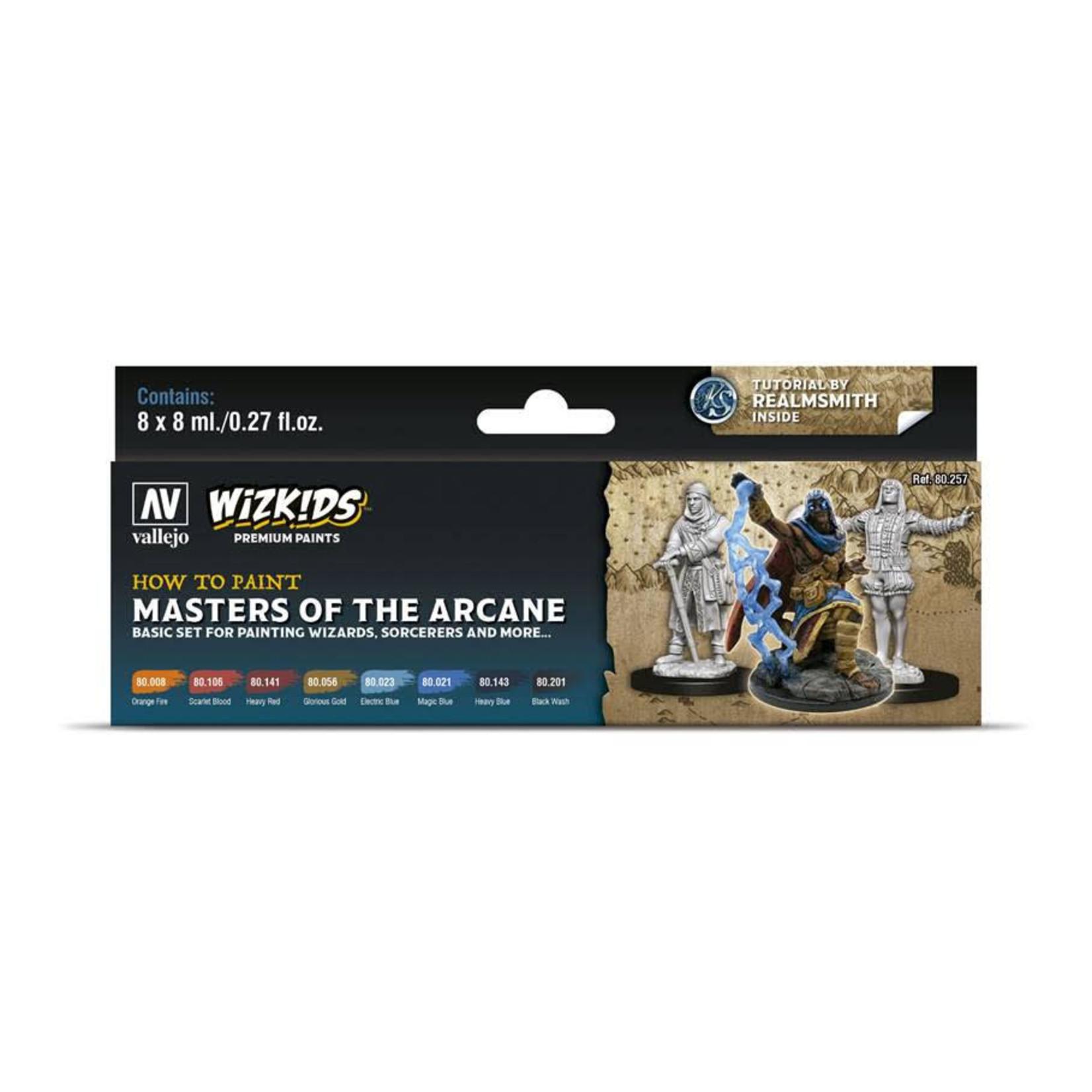 Vallejo Wizkids Paints Set: Masters of the Arcane (8 colors)