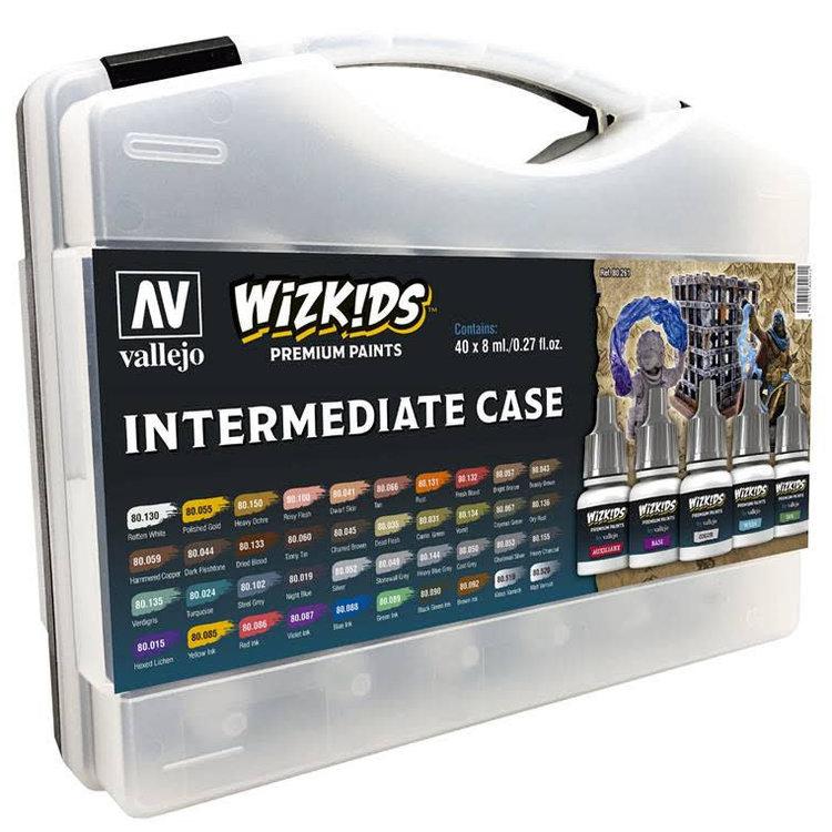 Vallejo Wizkids Paints Case: Intermediate (40 colors)