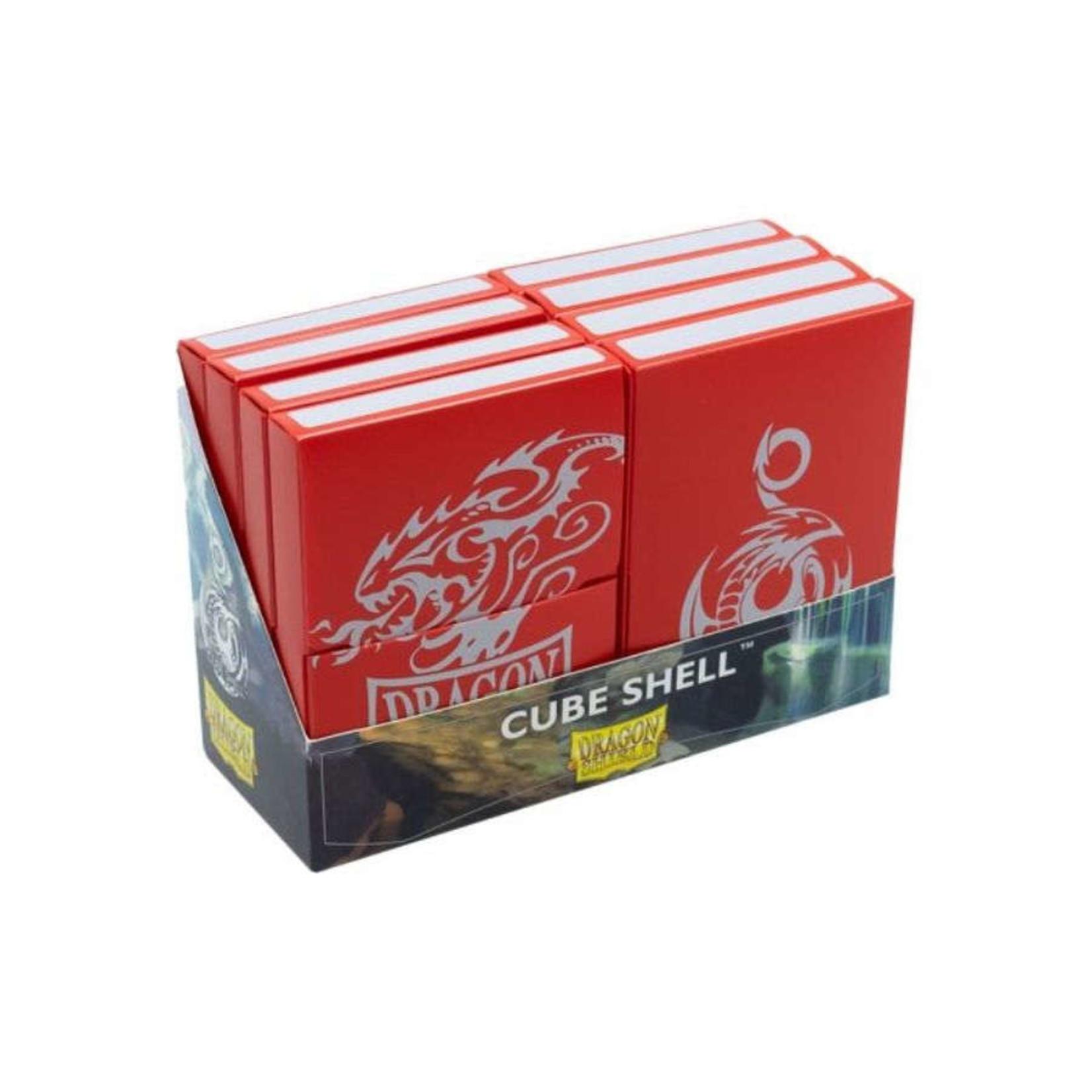 Arcane Tinman Dragon Shield: Cube Shell (8) - Red