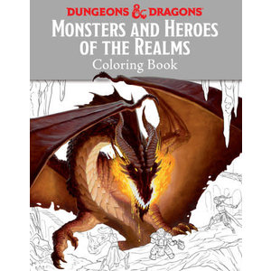 Random House Dungeons and Dragons: Monsters and Heroes Coloring Book