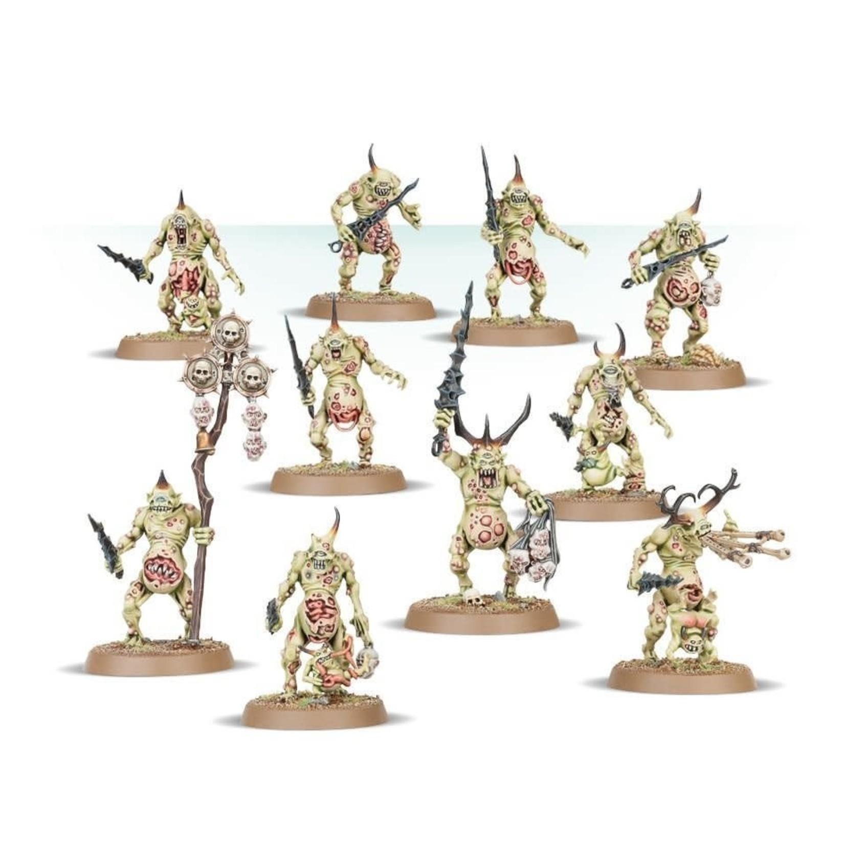 Games Workshop Warhammer Age of Sigmar: Daemons of Nurgle - Plaguebearers
