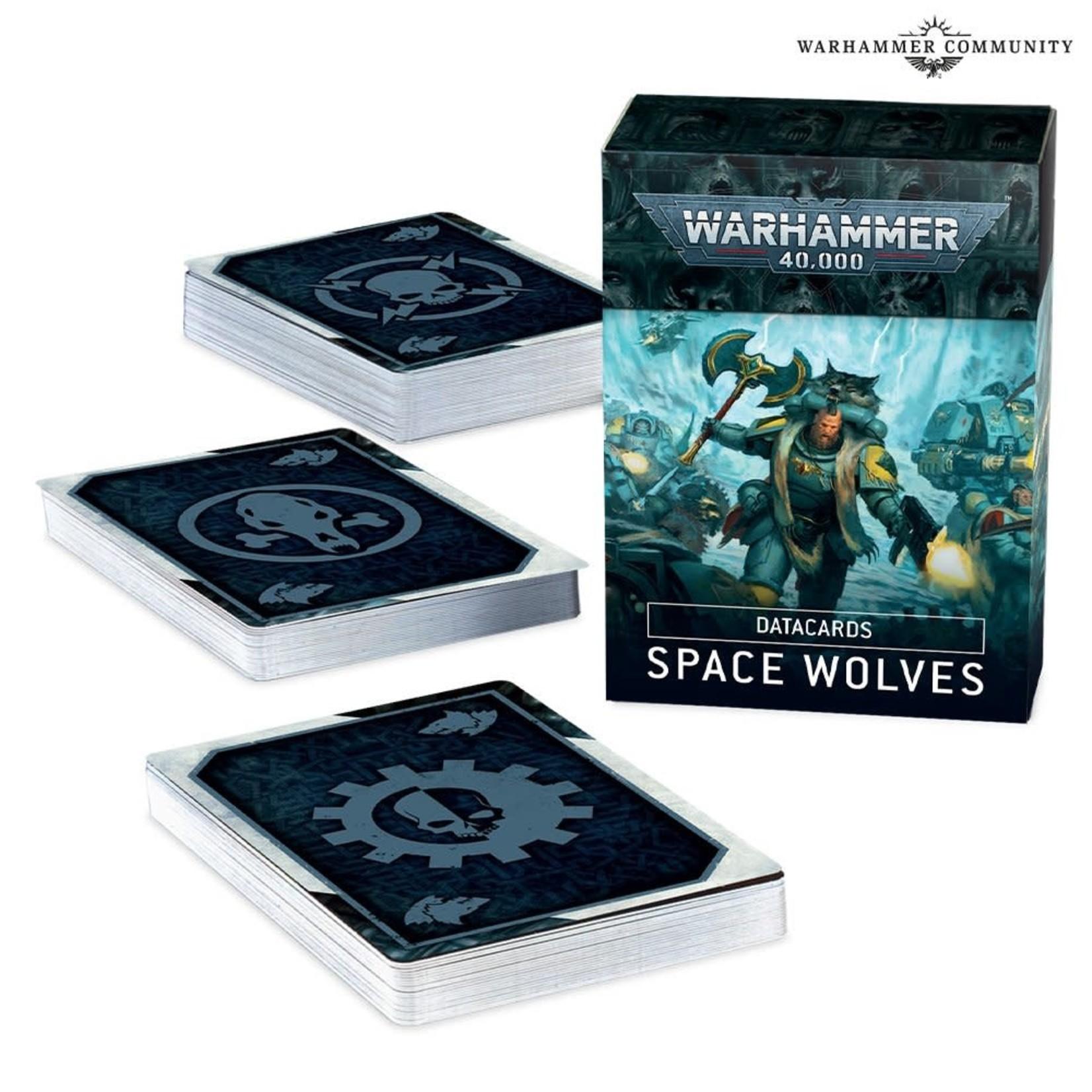 Games Workshop Warhammer 40k: Space Wolves - Datacards