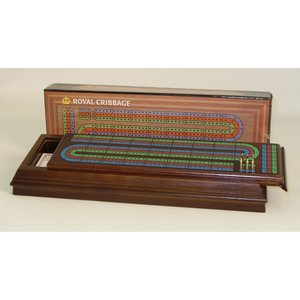 WorldWise Imports Cribbage: Royal Walnut Sliding Top