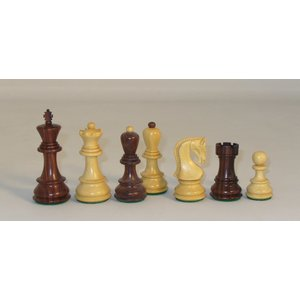 "WorldWise Imports Chess: 3.75"" Kikkerwood and Natural Boxwood Old Russian Chessmen"