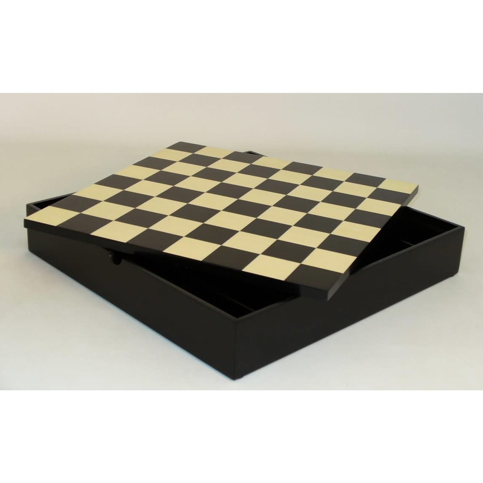 "WorldWise Imports Chess: 12"" Black Maple Veneer Chest"