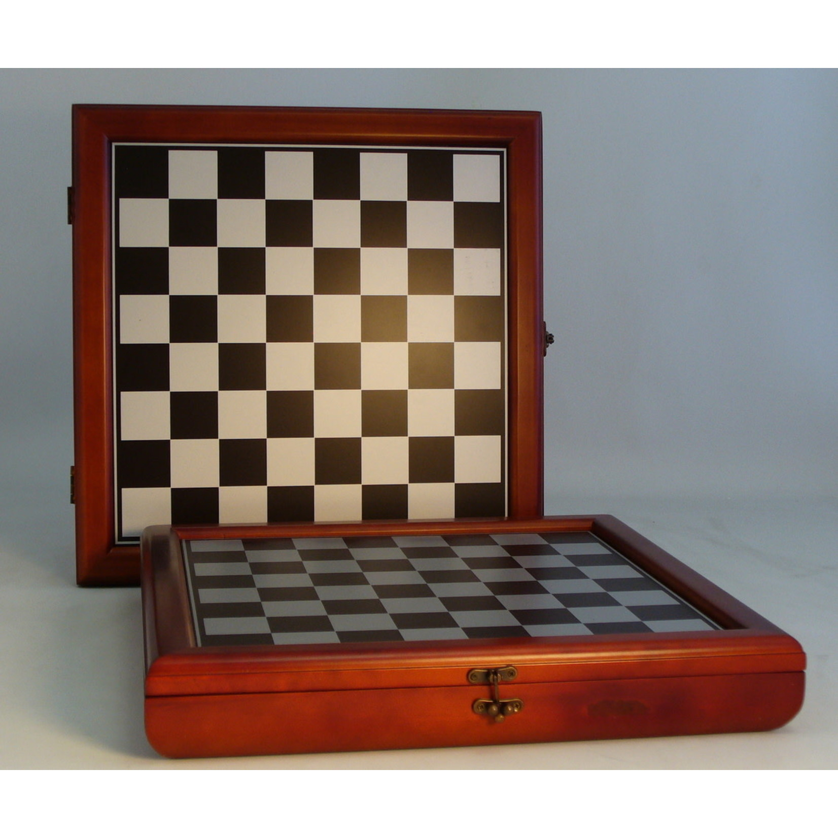 "WorldWise Imports Chess: 15.5"" Cherry Stained Chest"
