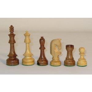 """WorldWise Imports Chess: 4.25"""" Sheesham Russian Traditional Chessmen"""