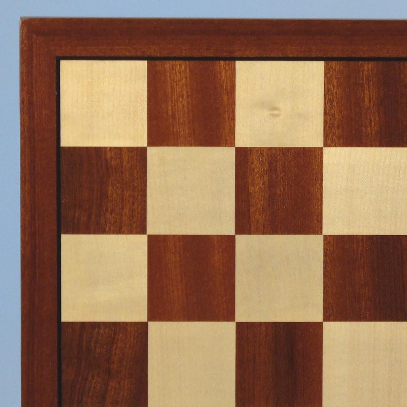 "WorldWise Imports Chess Board - Sapele/Maple 15.75"" board"
