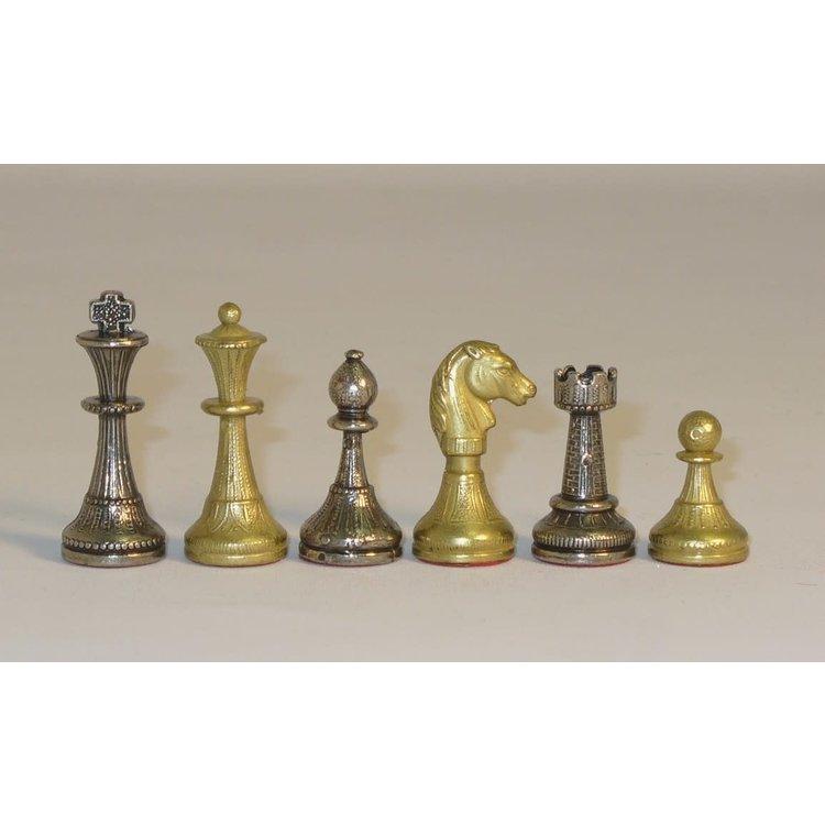 """WorldWise Imports Chess: 2"""" Small Staunton Metal Chessemen"""