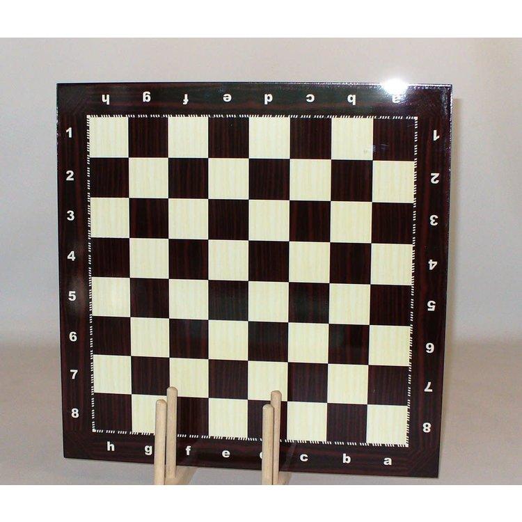 "WorldWise Imports Chess Board - Wood Grain Alpha-Numeric Decoupage 14.5"" board"