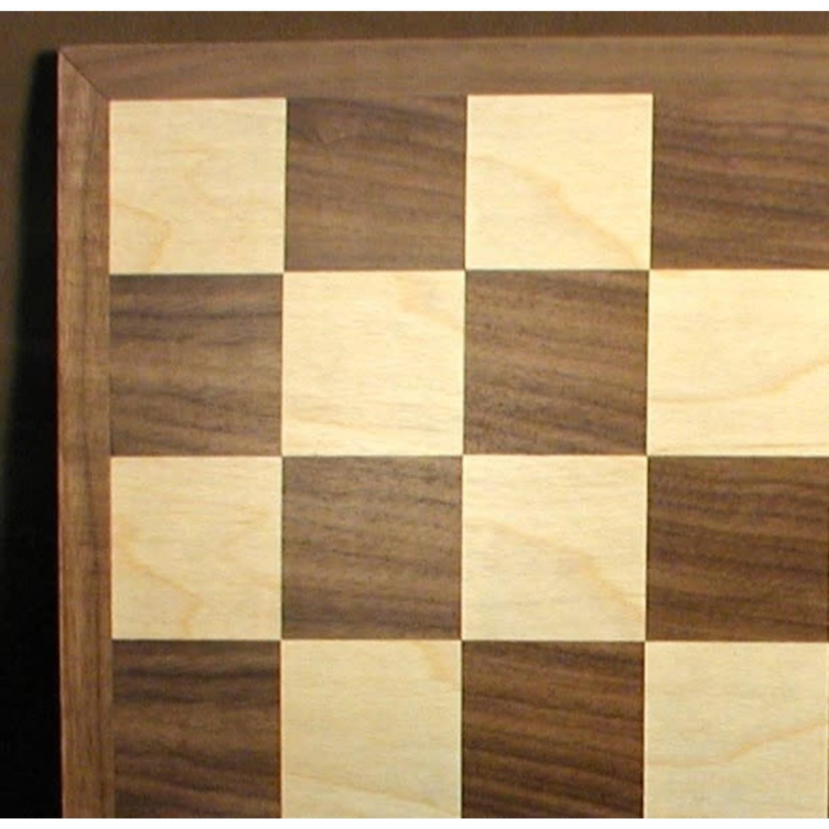 "WorldWise Imports Chess: 15"" Walnut Maple Board"
