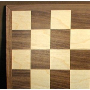 "WorldWise Imports Chess: 15"" Walnut Maple Board"