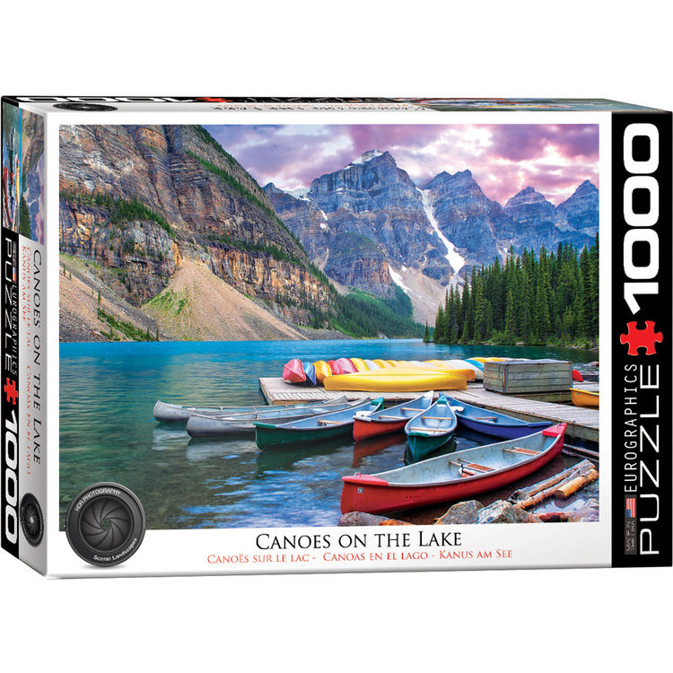 Eurographics Eurographics Puzzle: Canoes on the Lake (1000 pieces)