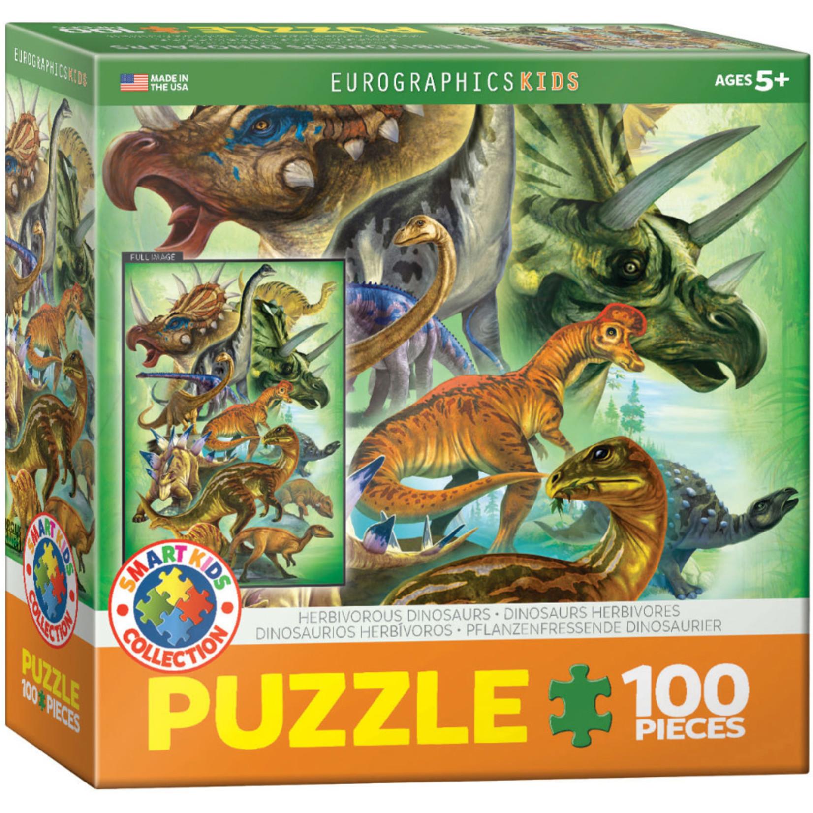 Eurographics Eurographics Puzzle: Herbivorous Dinosaurs - 100pc