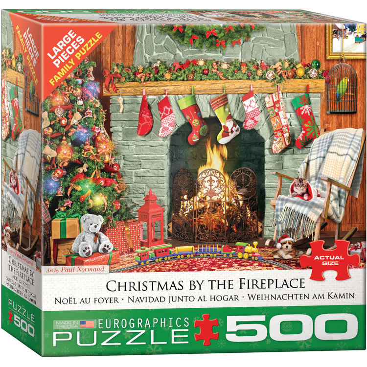 Eurographics Eurographics Puzzle: Christmas by the Fireplace - 500pc