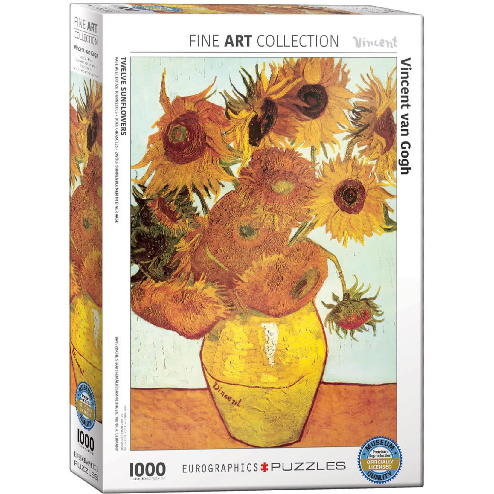Eurographics Eurographics Puzzle: Twelve Sunflowers by van Gogh - 1000pc