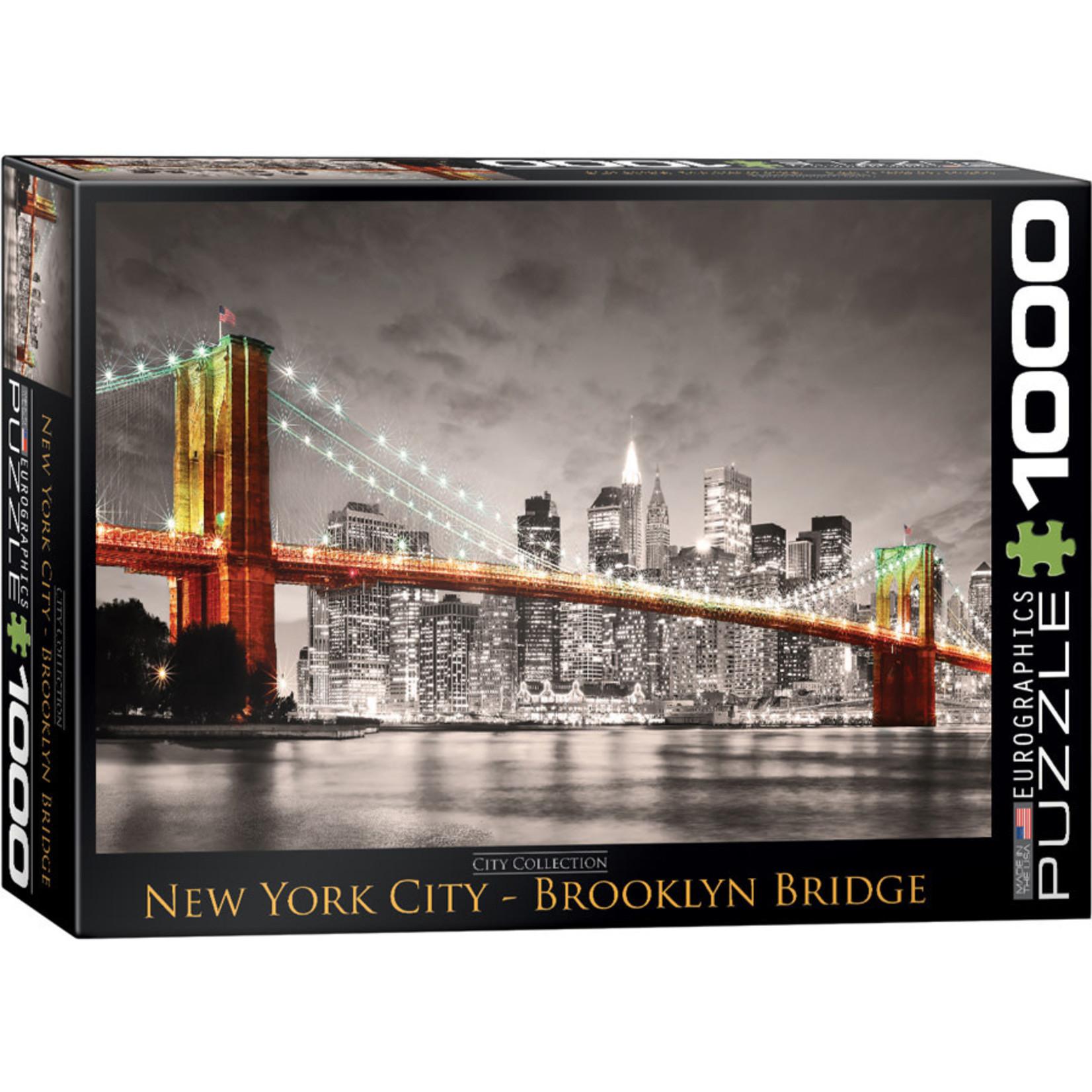 Eurographics Eurographics Puzzle: New York City Brooklyn Bridge - 1000pc