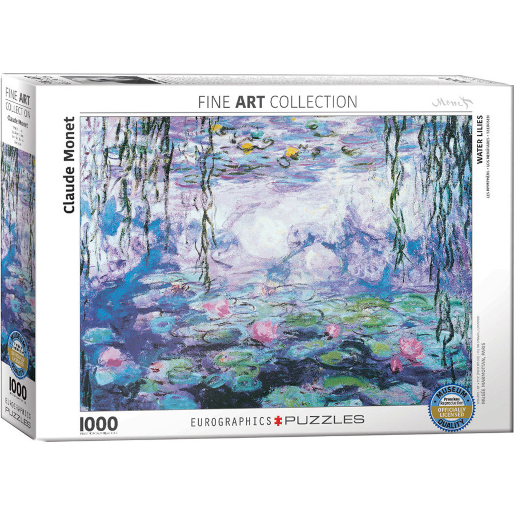 Eurographics Eurographics Puzzle: Waterlilies by Monet - 1000pc