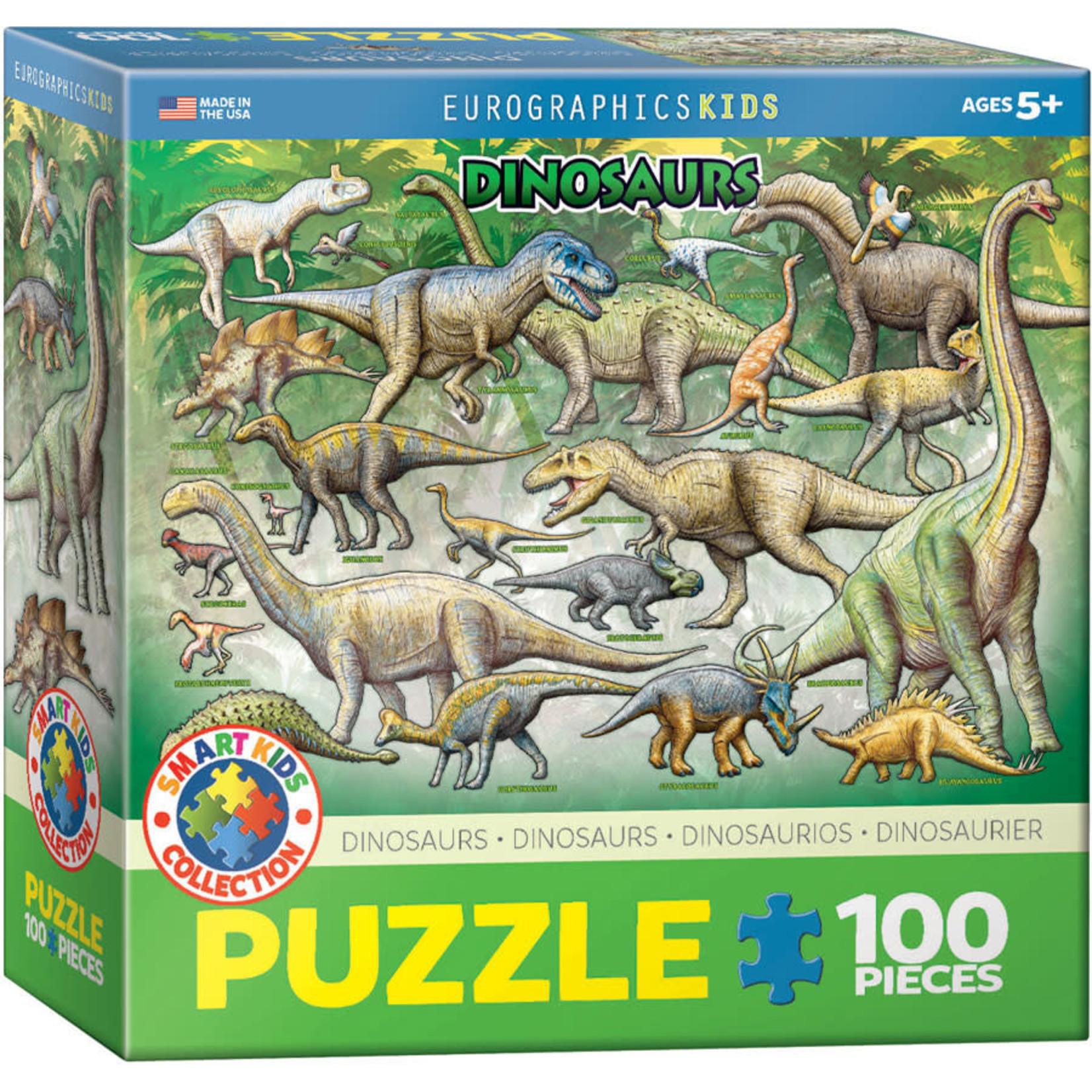Eurographics Eurographics Puzzle: Dinosaurs - 100pc