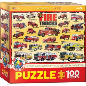 Eurographics Eurographics Puzzle: Fire Trucks - 100pc