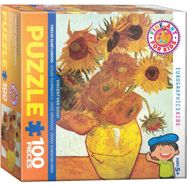 Eurographics Eurographics Puzzle: Twelve Sunflowers by van Gogh - 100pc