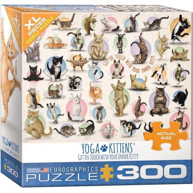 Eurographics Eurographics Puzzle: Yoga Kittens - 300pc