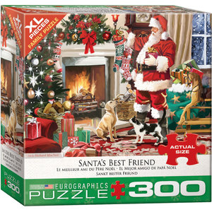 Eurographics Eurographics Puzzle: Santa's Best Friend - 300pc