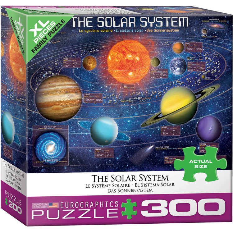 Eurographics Eurographics Puzzle: The Solar System Illustrated - 300pc