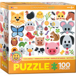 Eurographics Eurographics Puzzle: Emoji Farm Animals - 100pc