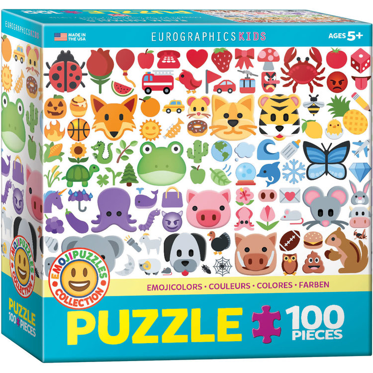 Eurographics Eurographics Puzzle: Emoji Colors - 100pc