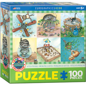 Eurographics Eurographics Puzzle: Kitten Trouble - 100pc