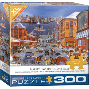 Eurographics Eurographics Puzzle: Market Days on Fulton St. - 300pc